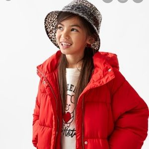 GORGEOUS ZARA NWT Animal Print Kids Rain Hat